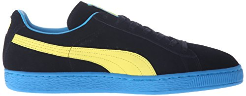 Puma Mens Daim Classique + Lfs Mode Sneakers Noir / Flamboyant Jaune