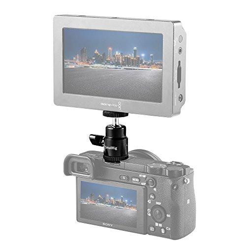 "SmallRig LCD Monitor Shoe Adapter 1/4"" Camera Hot Shoe Mount w/ Additional 1/4"" Screw for Cameras Such As Canon, Nikon, Olympus, Pentax, Panasonnic, Fujifilm & Kodak - 761"