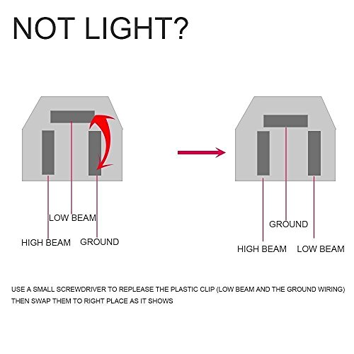 DOT 4X6 Rectagular LED Headlight emblies Replace H4651 ... H Wiring Diagram For Headlamp on
