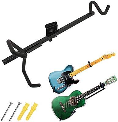 Soporte horizontal de pared para guitarra eléctrica, acústica ...