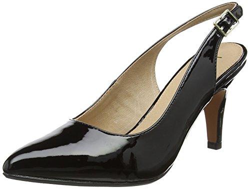 Patent Black Back Nadia Black Sling Women's Lotus Heels qWpHZcy