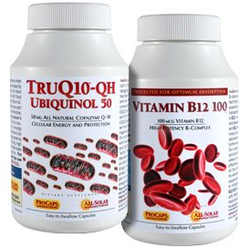 TruQ10 QH Ubiquinol-50 with Vitamin B12-100 240 Kit by Andrew Lessman