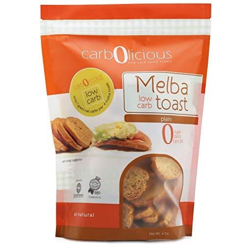 Herb Cream Spread Cheese - Low Carb Melba Toast (PLAIN) 4oz