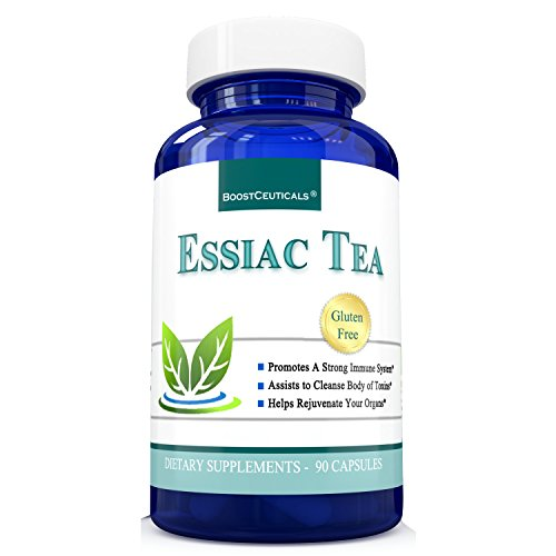 Essiac Tea 900mg 90 Essiac Capsules Based on Organic Original 8 Herb Essiac - Ideal Immune Support by BoostCeuticals (Best Tea For Cancer Fighting)