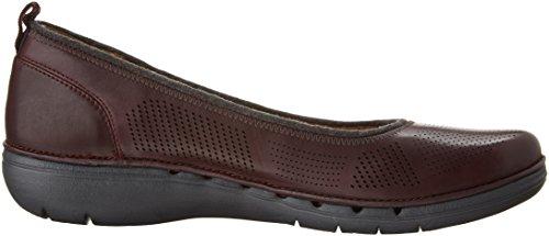 Clarks Zapatos planos Un Elita para mujer Aubergine Leather