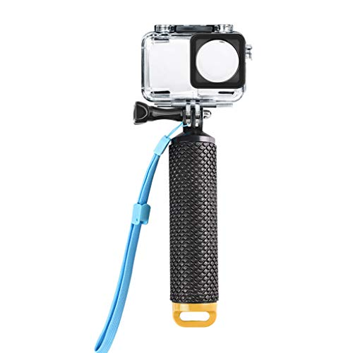 IslandseWaterproof Diving Housing Case Shell + Floating Hand Grip for DJI OSMO Action (Yellow)
