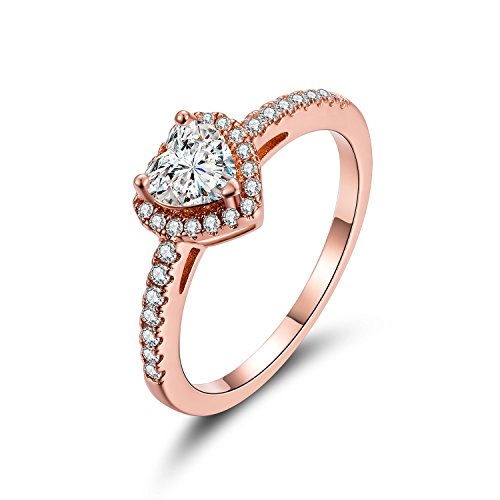 MDFUN Luxurious Rose Plated Cubic Zirconia Infinity Love Solitaire Promise Eternity Ring (6)