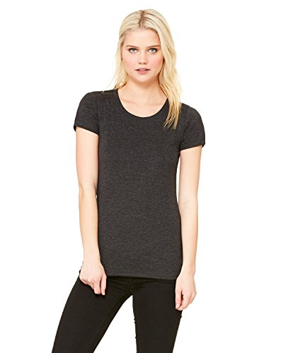 Bella Ladies' Cameron Tri-Blend Short Sleeve T-Shirt. 8413 - Large - Charcoal Heather