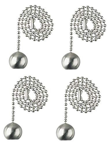 Westinghouse Pull Chain (Brushed Nickel - 4 Pack) by Westinghouse Lighting