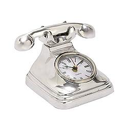 Benzara 42166 Antique Colonial Gorgeous Aluminum Telephone Clock