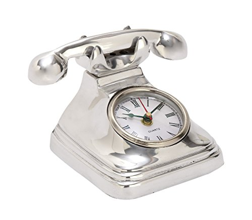 Benzara 42166 Antique Colonial Gorgeous Aluminum Telephone Clock by Benzara
