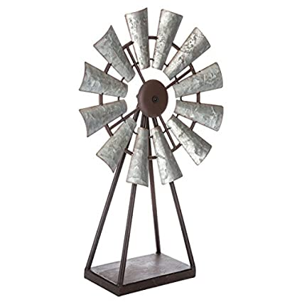 2 Foot Ornamental Garden Windmill   Tabletop WIndmill Metal Farmhouse  Country Home Decor