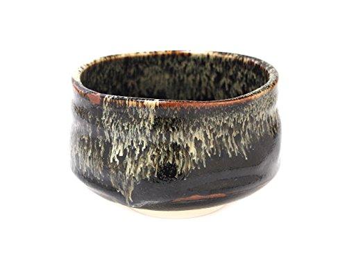 Tenmoku 4.6inch Set of 10 Matcha-Bowls Black Ceramic Made in Japan by Watou.asia