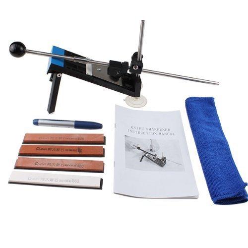 AGPtek Professional Kitchen Knife Sharpener System Fix-angle with 4 Stones - Edge Pro Sharpener