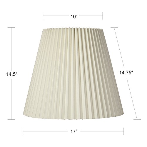 Ivory Pleated Shade 10x17x14.75 (Spider) by Brentwood (Image #4)