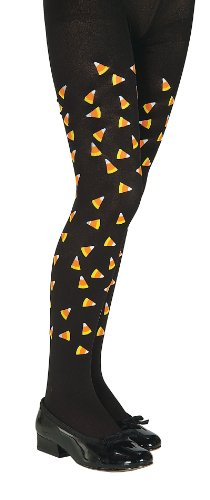 Candy Corn Print Tights Child Size Small -