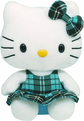 (Ty Beanie Baby Hello Kitty - Aqua Plaid )