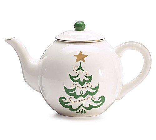 Burton and Burton Shining Star Christmas Tree Teapot, 38 - Burton Ceramic Teapot