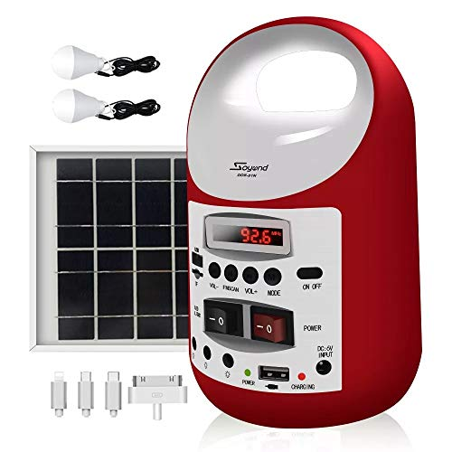soyond Portable Solar Generator with Panel, Solar Powered Electric Generator Kit (Red)