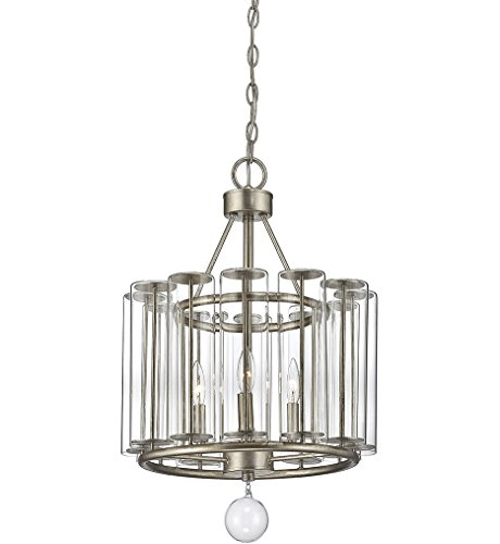 Savoy House Belmont 3-Light Pendant in Distressed Silver Leaf 7-262-3-29