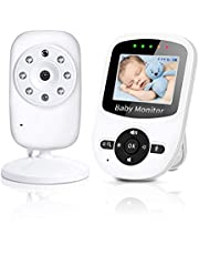 TOPERSUN Baby Phone Baby Monitor 2.4 GHz Baby Kamera mit LCD Nachtsichtkamera HD Digital Video & Bidirektionale Intercom-Funktion