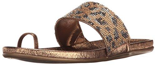 Kenneth Cole REACTION Women's Slim Tricks 2 Toe Ring Sandal, Natural Leopard, 8 M US