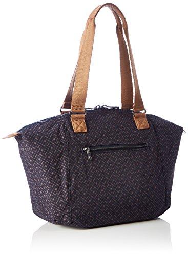 Geo Blue Women's Kipling Bag Handle Blue Elaine Woven Top HgHRq