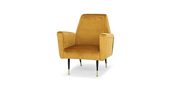 Amazon.com: Nuevo Victor Occasional Chair in Matte Mustard ...