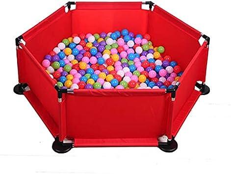 Yankuoo Los niños de la Bola del hoyo, for Interior y Exterior Parque Infantil Tienda del Juego de Bola del hoyo Piscina High 45CM (Bolas no Incluido) ( Color : Red )