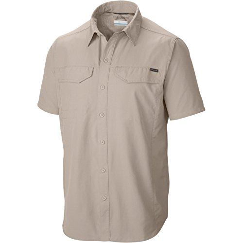 Columbia Mens Silver Ridge Short Sleeve Shirt, X-Large, Fossil