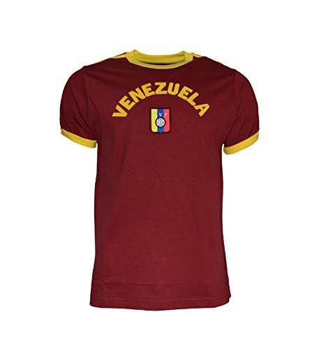 Venezuela Soccer Jersey (Venezuela Soccer Team Men's T-shirt 100 % Cotton Soccer Jersey (XL))