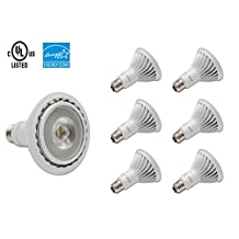 LED PAR30, Dimmable, COB, 13W, 800LM, 40 degree beam angle, Warm White 3000K, Cool White 6500K, CUL Certificated, LED Wholesaler, CAN LIGHTING INC, 6 Packs in One box (Cool White 6500K)