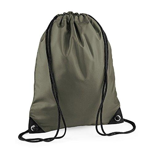BagBase Unisex Retro Colours Zipped Pocket shoulder Strap bag Olive