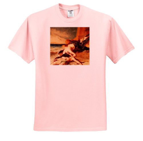BLN Paintings of Love Fine Art Collection - Hero and Leander by William Etty - T-Shirts - Adult Light-Pink-T-Shirt 2XL - William Paintings