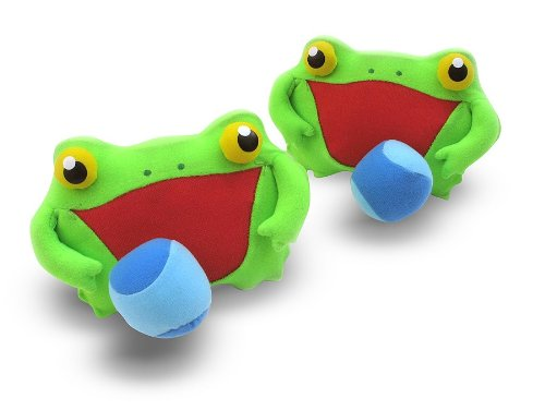 (Melissa & Doug Sunny Patch Froggy Toss and Grip Catching Game With 2 Balls )