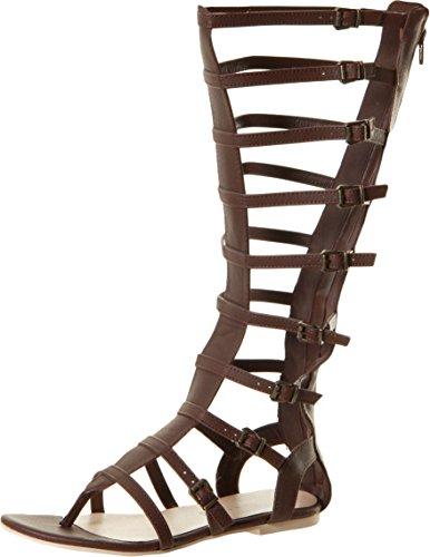 Volatile Brown Sandals (Very Volatile Women's Atticus Gladiator Sandal, Brown, 9 B US)