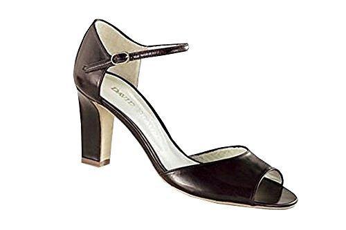 DAVID BRAUN Sandalette braun - Sandalias de Vestir de cuero Mujer marrón - Marrón-marrón