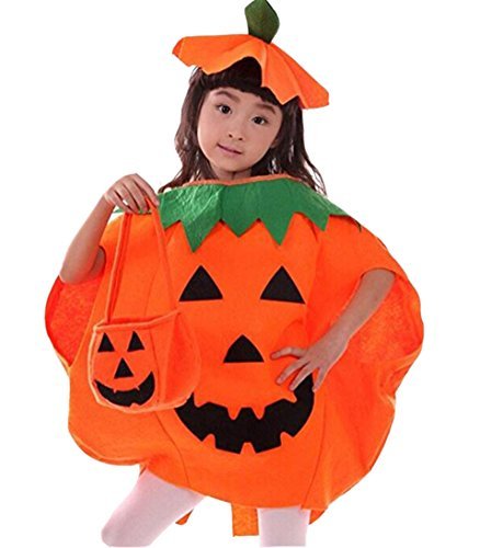 Cuties Oranges Halloween Costume (Dreamsoar Womens Orange Punkin Cutie Pie for Halloween Party Children Kids Clothing Costume Set)