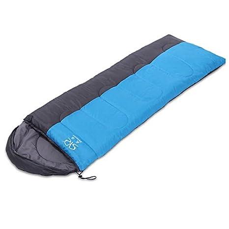 Camping bolsas de dormir puede empalmar sobre Sacos de dormir en un saco de dormir doble con capucha algodón adulto saco de dormir , fresh blue: Amazon.es: ...