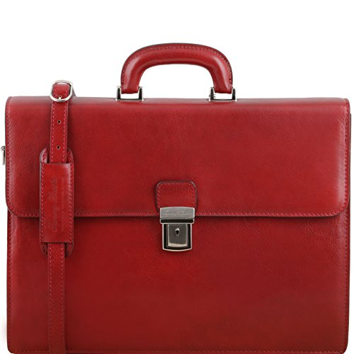 81413504 - TUSCANY LEATHER: PARMA - (N) Aktentasche aus Leder 2 Fächer, Rot