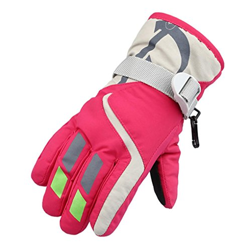 VESNIBA Child Winter Warm Waterproof Windproof Snow Snowboard Ski Sports Gloves