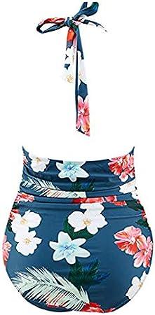 Verano Bikinis Mujer 2019 Bikini Brasileño Trikinis Push Up con Relleno Tankinis Baño Ropa De Playa Monokini Sexy, Bañador Vendaje, Trajes De Bañ Halter, Tallas Grandes Traje De Baño Vintage