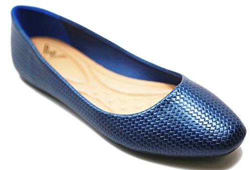 Walstar Ballet Chaussures Plates Slip Sur 51c-marine