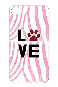 TPU Love Dogs For Iphone 4/4s Red Animals Nature Typographic Love Dogs Design Case Cover