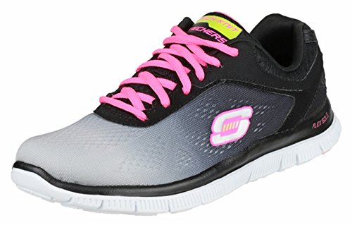 Skechers Flex Appeal Sportschuhe Black/Light Grey