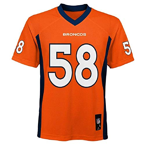 Von Miller Denver Broncos NFL Kids Orange Home Mid-Tier Jersey (Kids 7)