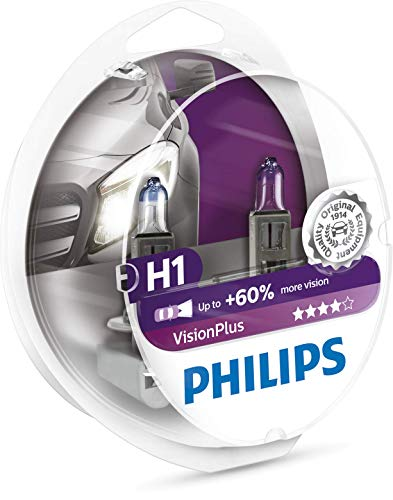 Philips H1 VisionPlus Replacement Bulb, (Pack of 2) 2009 Kia Sorento Replacement