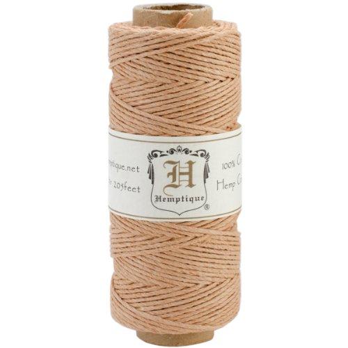 Hemptique Cord Spool Pack, 205-Feet/20-Pound, Cappuccino