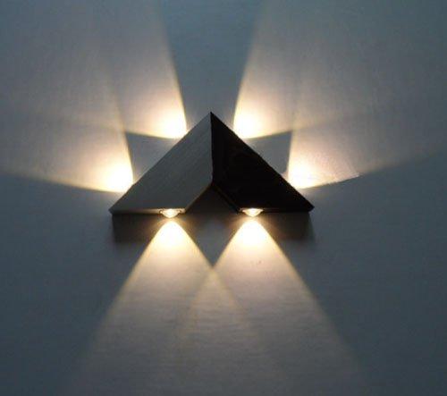 reputable site 025fd d60e4 LUMINTURS 6W Dimmable LED Wall Sconce Light Fixture Bulb Modern Lamp High  Power