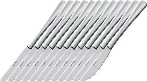 Esmeyer 204-045 12er Pack Messer STOCKHOLM, aus Edelstahl 13/0, poliert. Gewicht beträgt 80g pro Messer